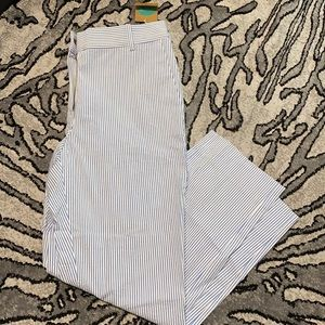 NWT Striped Lined Cropped Pants